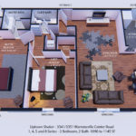 1, 4, 5 and 8 Series - 2 Bedroom, 2 Bath -1090 to 1145 SF